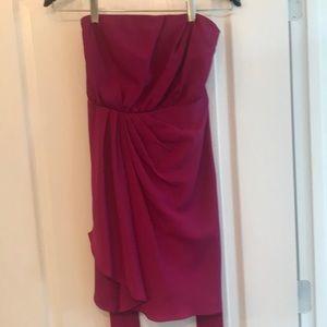 Express, Magenta strapless dress.